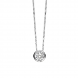 Image of Ti Sento Silver Collection Zirconia Pendant Necklace