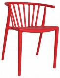 Afbeelding van Dimehouse Tuinstoel modern Nour rood