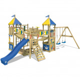 Image of Fatmoose Wooden climbing frame with slide Smart Queen