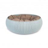 Afbeelding van Curver Cozy Pet Bed Lichtblauw Dia 50cm hoogte 22cm