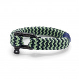 Afbeelding van Pig and Hen Gorgeous George Mint Green/Slate Gray Stripe Armband P14 251822 ML (Lengte: 19.00 cm)
