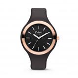 Afbeelding van Colori 5 COL429 Horloge Macaron zwart rosékleurig 44 mm