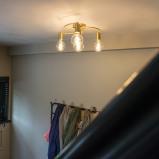 Bilde av Art Deco Ceiling Lamp 4 Brass Facil