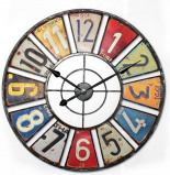 Image of Balance Time License Plate wall clock