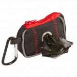 Abbildung von Kerbl Tasche für Kotbeutel Schwarz/Rot 8x5,5x4cm