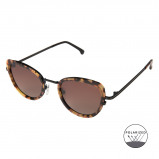 Bilde av Komono Crafted Billie Tortoise Black Polarized Sunglasses KOM S3602