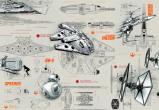 Afbeelding van Star Wars Blueprints 8 delig Fotobehang 368x254cm Film