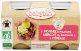 Afbeelding van Babybio Dessert Appel Abrikoos Graanvlokken 4 Maanden, 2x130 gram