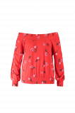 Afbeelding van FSTVL by MS Mode Dames Off shoulder top Rood