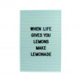 Afbeelding van Retro Letter Board 31 x 46 cm Mint Letterborden