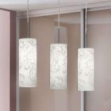 Afbeelding van EGLO decoratieve hanglamp Amanda 3 lichts, voor woon / eetkamer, metaal, glas, E27, 60 W, energie efficiëntie: A++, L: 72 cm