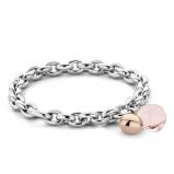 Image of TI SENTO Milano Bracelet Nude Silver Rose Gold Plated 2895NU