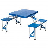 Afbeelding van Camp Gear Picknicktafel set Basic blauw staal 1404374