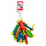 Obrázek Birdeeez Parakeet Toy Wood Bunch of 25cm