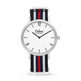 Afbeelding van Colori 5 COL491 Horloge Phantom staal/nylon rood wit zwart 42 mm