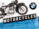 Afbeelding van BMW Motorcycles Timeline Metalen Wandplaat 40x30cm Wandplaten