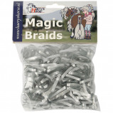 Image de Bandes de caoutchouc Harry's Horse Magic Braids (Couleur: argenté)