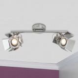 Afbeelding van Brilliant 2 lamps LED spot plafondlamp Movie, chroom, voor woon / eetkamer, metaal, GU10, 5 W, energie efficiëntie: A+, L: 39 cm, B: 19 H: 16.5 cm