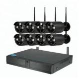 Afbeelding van Beveiligingscamera set met 8x Wifi Bullit Camera's Zwart