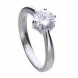Afbeelding van Diamonfire Zilveren Solitaire Ring 1.50 Ct Maat 18.5 Steenmaat 7 Mm Chatonzetting 814.0034.185