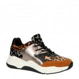 Afbeelding van bullboxer 077001F5S sneakers zilver/panterprint