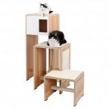 Afbeelding van Kerbl Katten krabmeubel Ambiente wit 100 cm 81521