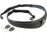 Afbeelding van 4V Design ALA TOP Neck Strap Metal Ring Carbon/Black