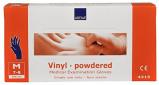 Afbeelding van Abena Handschoen Vinyl Poeder Blauw M, 100 stuks