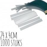 Afbeelding van Acetaatfolie stroken 24x4cm 1000 stuks