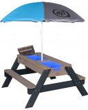 Billede af AXI Nick sand og vand bord bænkesæt (Farve: grå)