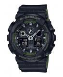 Afbeelding van Casio G Shock GA 100L 1AER Classic horloge herenhorloge Groen,Zwart