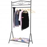 Afbeelding van AA Commerce Design Garderoberek Kledingstandaard Rek Met Schoenenrek