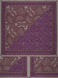 Immagine di Vlisco VL00006.238.04 Purple African print fabric Wax Hollandais Decorative