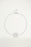 Afbeelding van Bedelarmbandje vierkant met palm print, armband