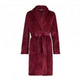 Afbeelding van Elegant fleece badjas bordeaux rood