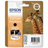 Billede af 2 pack Epson T0711 sort blækpatron 2 x 7ml original
