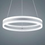 Afbeelding van Helestra helestra Liv LED hanglamp, mat wit, 60cm, voor woon / eetkamer, metaal, acryl, 36 W, energie efficiëntie: A+, H: 8.5 cm