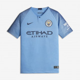 Abbildung von 2018/19 Manchester City FC Stadium Home Older Kids' Football Shirt Blue