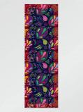 Zdjęcie Vlisco Scarf flower darkblue 65x198cm Pink/Purple/Red African print fabric Silk Scarves Nature