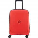 Afbeelding van Delsey Belmont Plus 4 Wheels Trolley 55 tangerine orange harde koffer