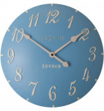 Afbeelding van wandklok NeXtime dia 24,5 cm poly resin, blauw, 'London'