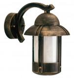 Afbeelding van Albert Leuchten duretta buitenwandlamp in landhuisstijl bruin, gietaluminium, opaalglas, E27, 75 W, energie efficiëntie: A++, H: 30 cm