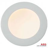 Afbeelding van AEG 18 W sterke LED inbouwspot Orbita, wit, voor woon / eetkamer, drukgegoten aluminium, kunststof, W, energie efficiëntie: A+