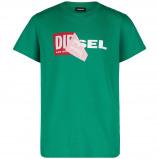 Afbeelding van Diesel 00J3ZN kinder t shirt groen