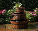 Afbeelding van Ubbink Houten Ornament Waterval Set 3 Vaten 72cm + Pomp