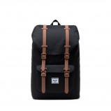 Image of Herschel Little America Mid Volume backpack (Main colour: 2462 Black/Saddle Brown/Rubber)