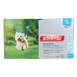 Image of Advantix Dewormer 100/500 Spot On Dog 4 10kg 24 Pipettes