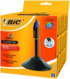 Afbeelding van Baliebalpen Bic pen desk met ketting zwart Balpennen 4 kleuren