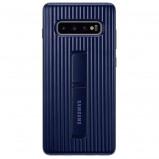 Afbeelding van Samsung Galaxy S10 Plus Protect Stand Back Cover Zwart telefoonhoesje