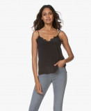Obrázek ANINE BING Camisole Belle Silk in Black with Lace